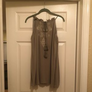 Olive short dress or long top size small